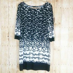 Tiana B. Black & White Dress Size M